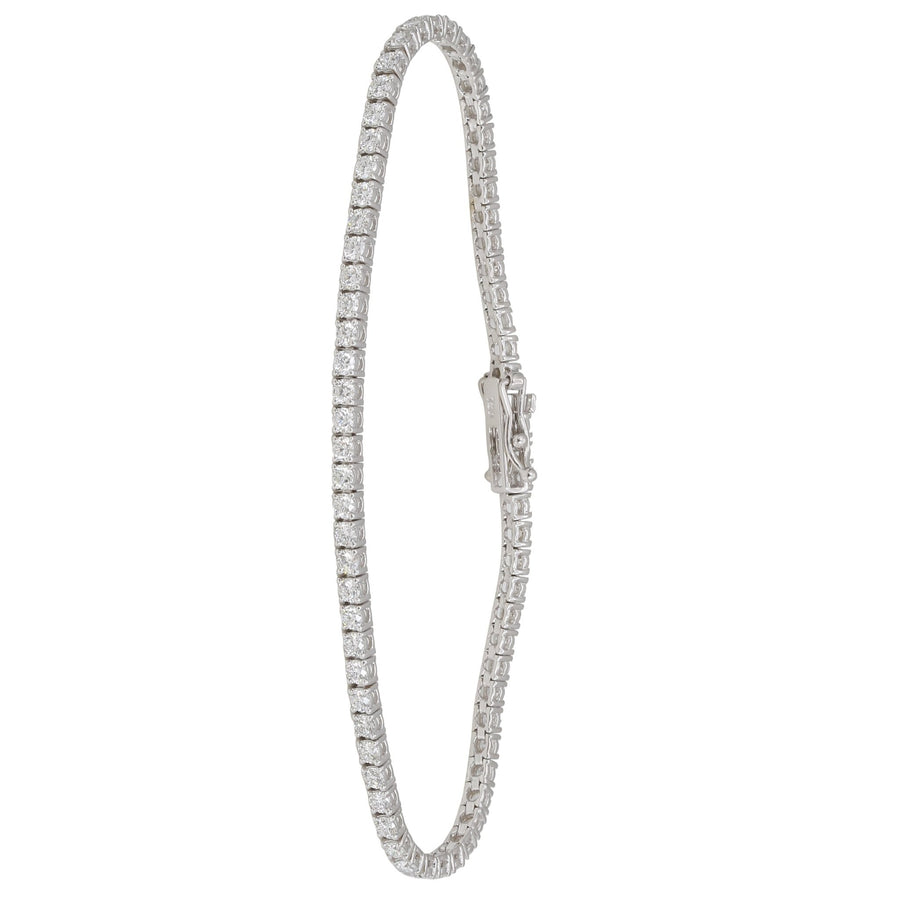18k White Gold ECOMARK® Created Diamond Tennis Bracelet (9.0 cttw, E-F Color, VS2-SI1 Clarity), 7