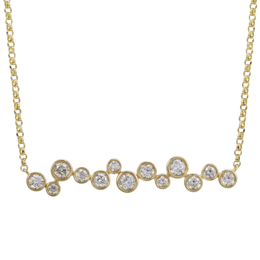 14k Yellow Gold ECOMARK® Created Diamond Pendant Necklace (3/8 cttw, E-F, VS2-SI1), 16-18