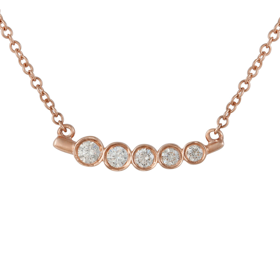 14k Rose Gold ECOMARK® Created Diamond Pendant Necklace (1/5 cttw), 16-18