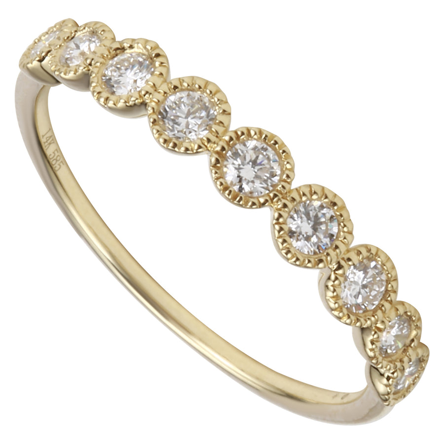 14k Yellow Gold ECOMARK® Created Diamond Layer Ring (1/4 cttw, E-F Color, VS2-SI1 Clarity)