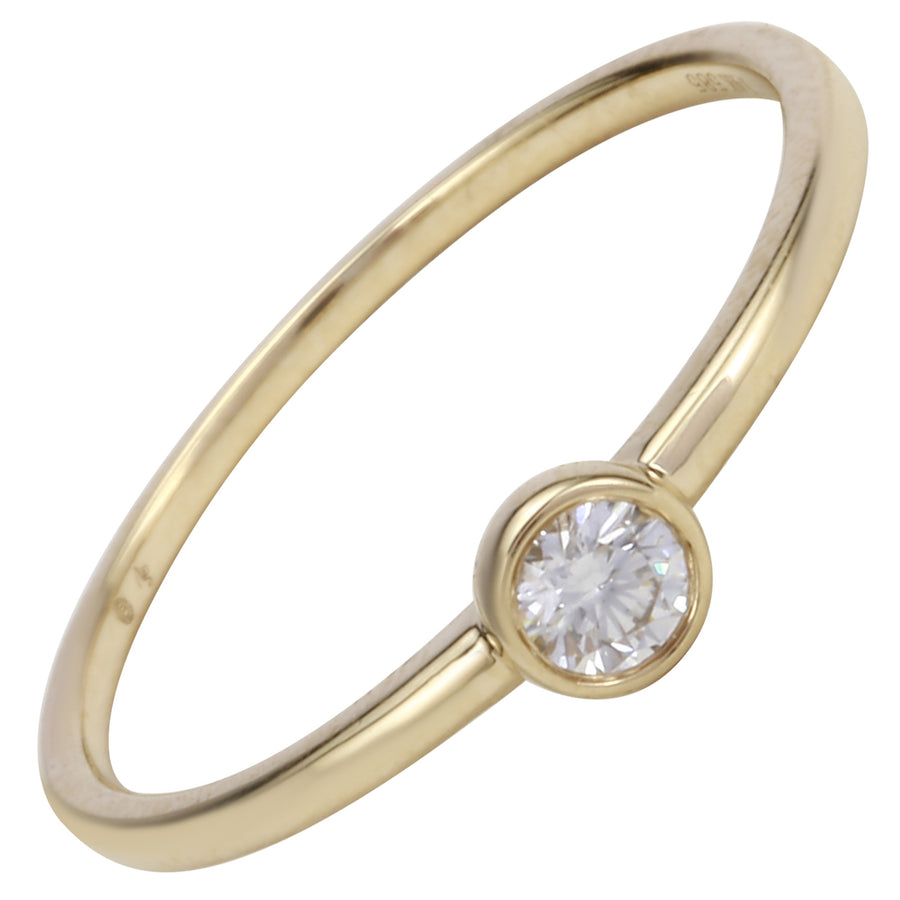 14k Yellow Gold ECOMARK® Created Diamond Stacking Ring (1/10 cttw, E-F Color, VS2-SI1 Clarity)
