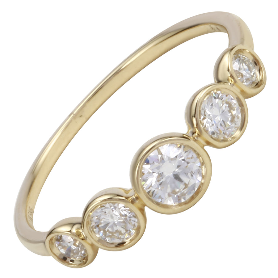14k Yellow Gold ECOMARK® Created Diamond Layer Ring (1/2 cttw, E-F Color, VS2-SI1 Clarity)