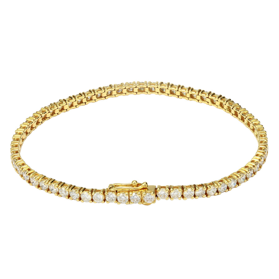 14k Yellow Gold ECOMARK® Created Diamond Tennis Bracelet (4.91 cttw, E-F Color, VS2-SI1), 7
