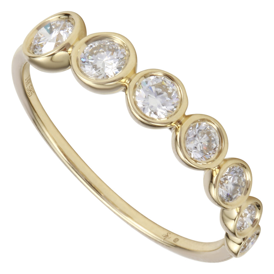 14k Yellow Gold ECOMARK® Created Diamond Stackable Ring (1/2 cttw, E-F Color, VS2-SI1 Clarity)