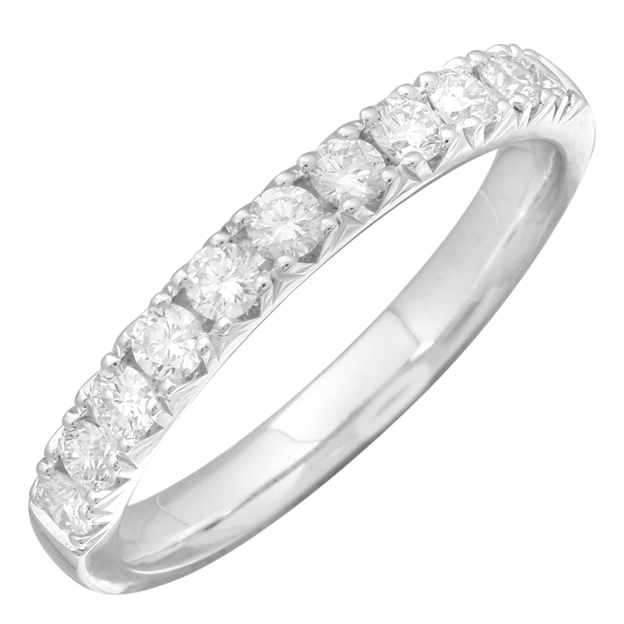 14k White Gold ECOMARK® Created Diamond Wedding Band Ring (1/2 cttw, E-F Color, VS2-SI1 Clarity)