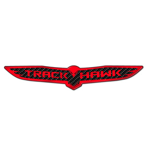 """Carbon Fiber Trackhawk"" Trunk Badge"