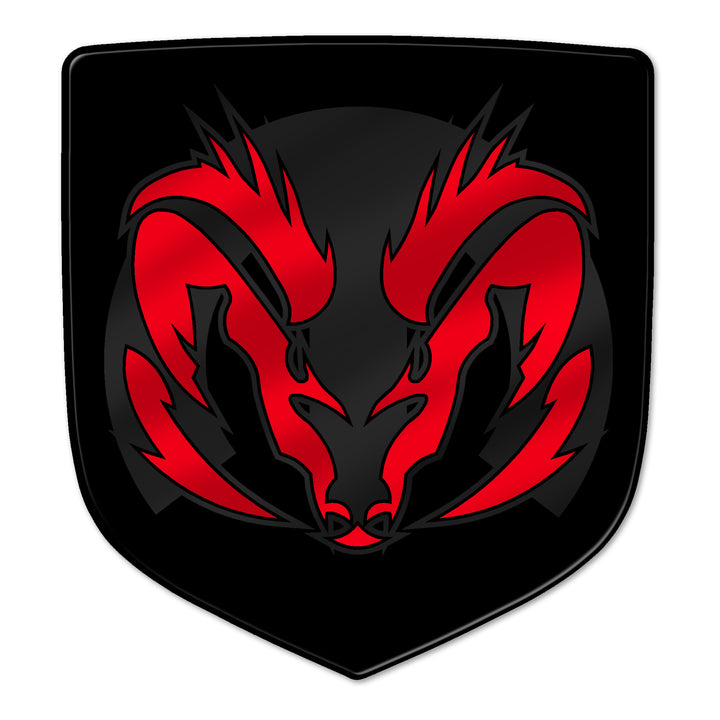 """Angry M"" Ram Shield Badges"