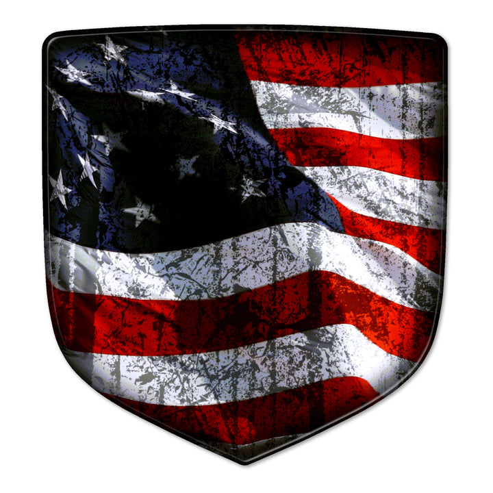'Merica Flag Ram Shield Badges