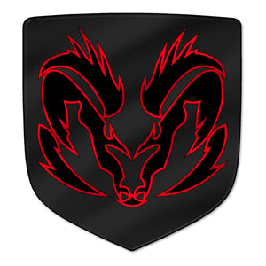 """Angry Ram"" Shield Badges"