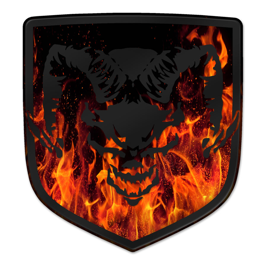 """Inferno Devil Ram"" Shield Badges"