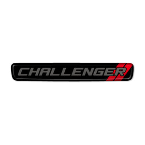 """Dark Gray Challenger"" Steering Wheel Center Badge"