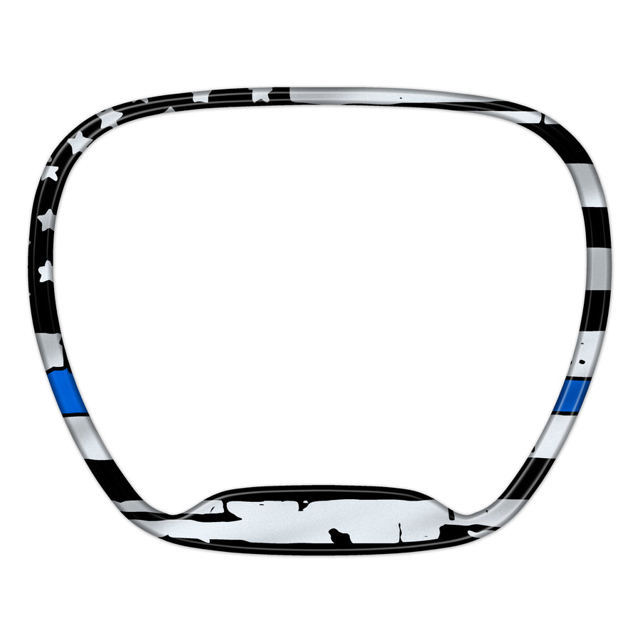 """Thin Blue Line Punisher"" Steering Wheel Trim Ring"