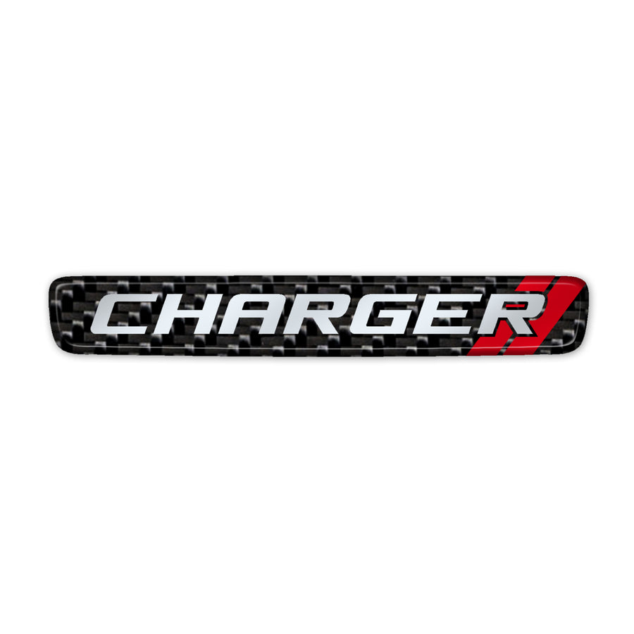 """Simulated Carbon Fiber Charger"" Steering Wheel Center Badge"