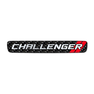 Simulated Carbon Fiber Challenger Steering Wheel Center Badge