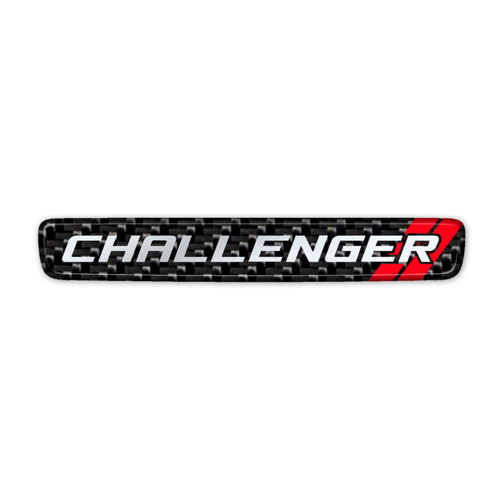 """Simulated Carbon Fiber Challenger"" Steering Wheel Center Badge"