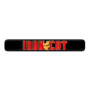 """Iron Cat"" Dash Badge"