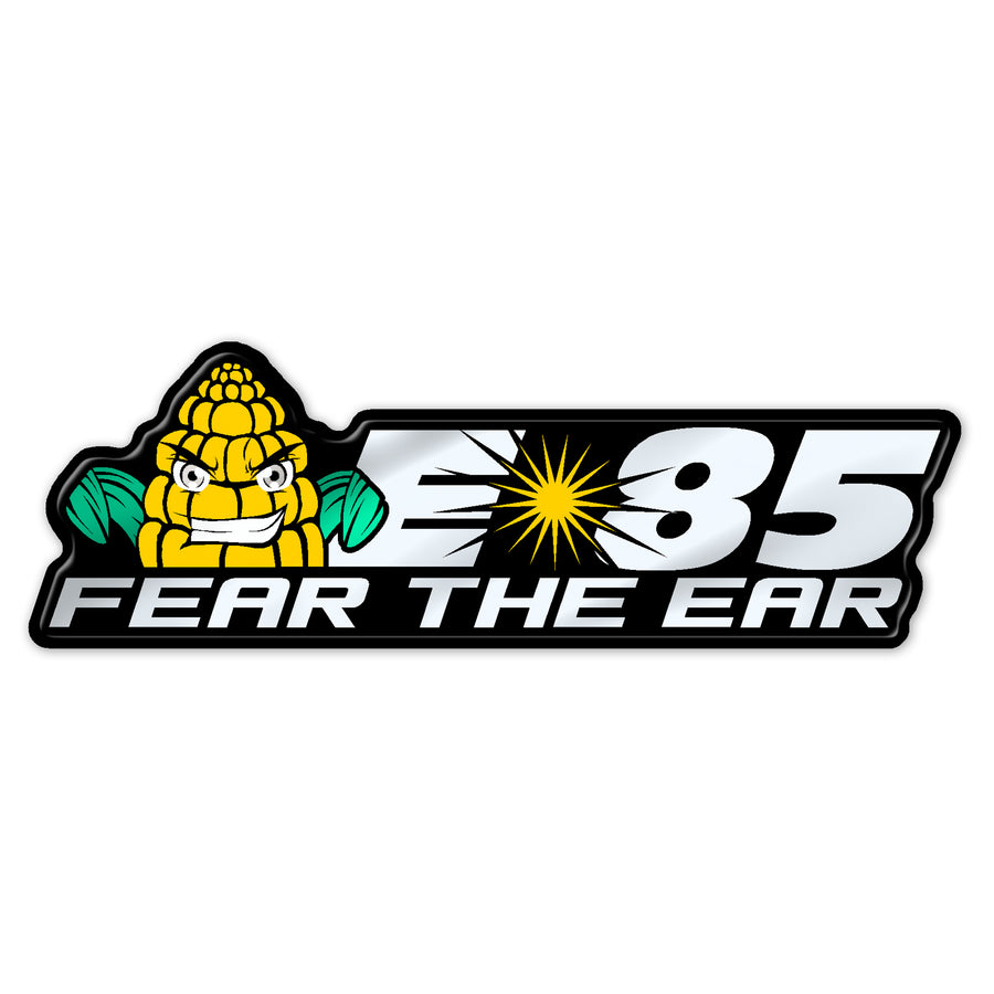 "Silver ""Fear the Ear"" Flex Fuel Badge"