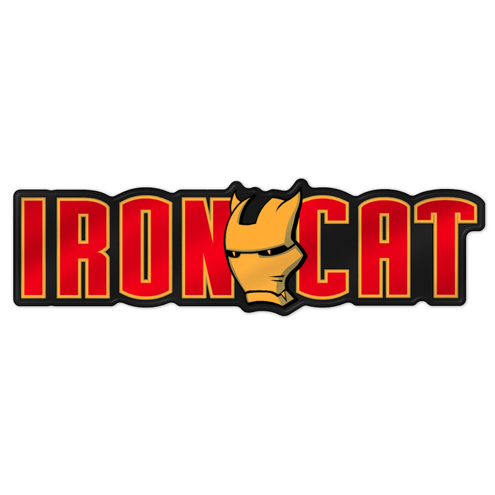 """Iron Cat"" Grille Badge"