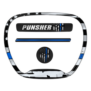 "Challenger ""Thin Blue Line Punisher"" Themed 4-Piece Set"