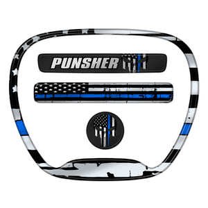 "Charger ""Thin Blue Line Punisher"" Themed 4-Piece Set"