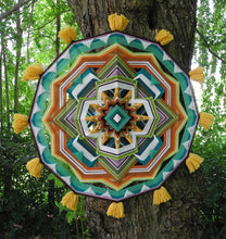 Load image into Gallery viewer, Forest Awakening, 24 inch Ojo de Dios mandala