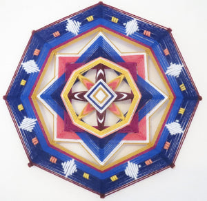 First Twilight, a 12 inch, 8-sided Ojo de Dios, by custom order