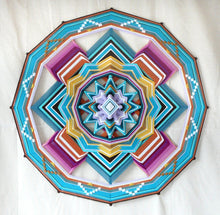 Load image into Gallery viewer, Quiet Mind, 32 inch Ojo de Dios, 12 sided, by custom order