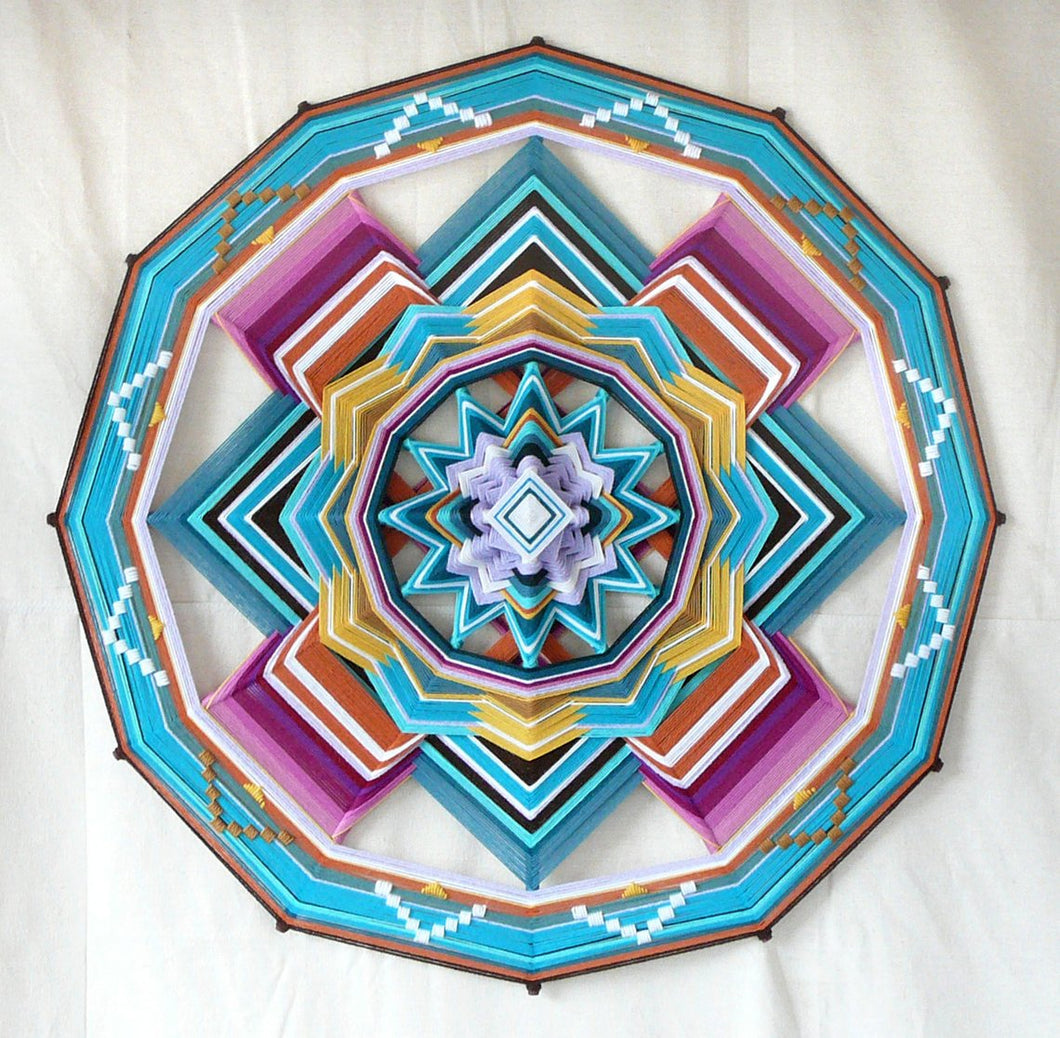 Quiet Mind, 32 inch Ojo de Dios, 12 sided, by custom order