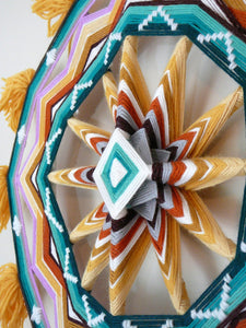 Sunset Horizon, an 18 inch, 12-sided, Ojo de Dios, by custom order