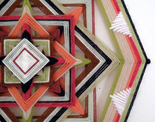 Load image into Gallery viewer, Coral Gem, a 12 inch, 8-sided Ojo de Dios, by custom order