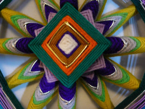Joy of Color, a 24 inch Ojo de Dios, by custom order