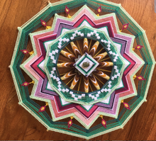 Load image into Gallery viewer, Transitions, an 18-inch, 12-sided ojo de dios, by custom order