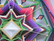 Load image into Gallery viewer, Finding Joy, a 24 inch, Ojo de Dios, by custom order