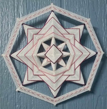 Load image into Gallery viewer, Pink Inversion Kit! Includes Sticks, Yarn, and Downloadable Instructions. Kit for making one 8-sided, 12-inch Mandala Pink Inversion