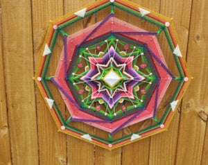 Finding Joy 30 inch, 8-sided Mandala