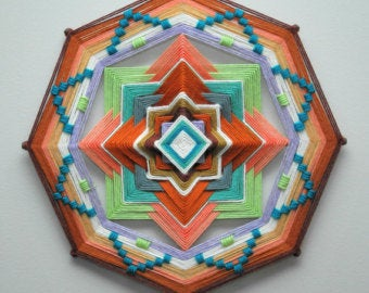 Sage Brush 12 inch  8-sided Mandala