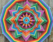 Load image into Gallery viewer, Rainbow Flag, 18 inch  Mandala