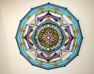 Summer Moon, 24 inch  Mandala