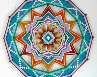 Circle of LIght, 24 inch  Mandala