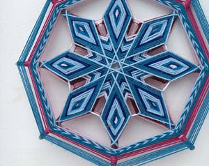Fire and Ice 12 inch  8-sided Mandala