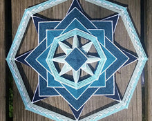 Load image into Gallery viewer, Ojos De Dios Blue Inversion Kit 12 Inch Mandala Set