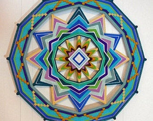Bluegreen Sea, 24 inch  Mandala