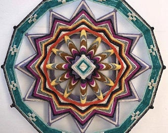 Earth and Fire, 18 inch Mandala