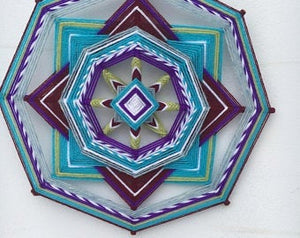 Kit and Directions for making One Purple Beauty Mandala  12 Inch