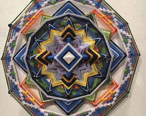 Night Twinkle 12 inch  8-sided Mandala