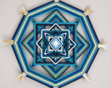 Load image into Gallery viewer, Ojos De Dios Drop in the Ocean 12 inch  8-sided Mandala