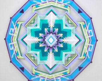 Ojos De Dios Health and Happiness, 24 inch  Mandala