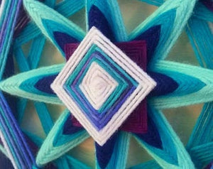 Ojos De Dios River Jewels 12 inch  8-sided Mandala