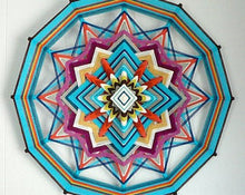 Load image into Gallery viewer, Sky Blue, 18 inch Mandala Variations