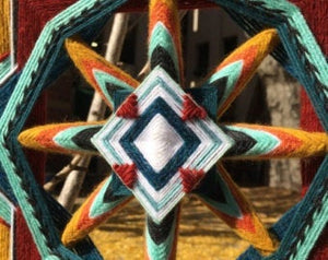 Ojos De Dios Catcher Of Dreams 18 inch  8-sided Mandala